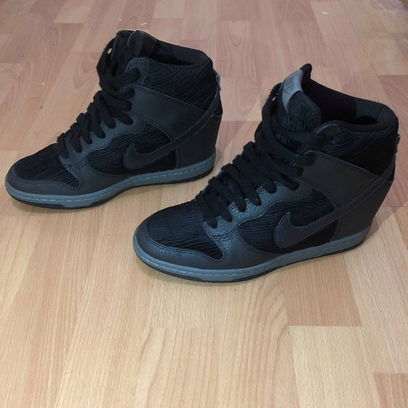 super popular e4c62 96dbe ... promo code nike shoes 2015 nike dunk sky hi wedge black grey metallic  wo 20e55 124c5